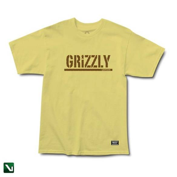 koszulka grizzly og stamp s/s tee banana/brown