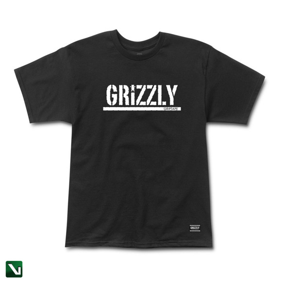 koszulka grizzly og stamp s/s tee black/white
