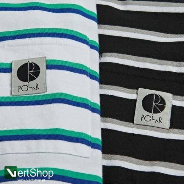koszulka polar stripe pocket tee white