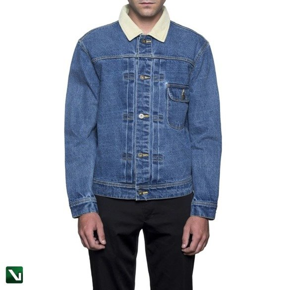 kurtka huf jacke brooklyn denim blue