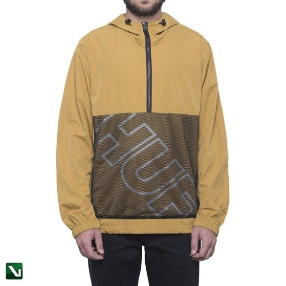 kurtka huf wire frame anorak honey mustard
