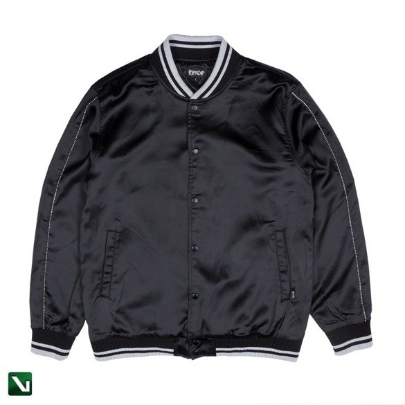 kurtka ripndip share some love satin jacket black