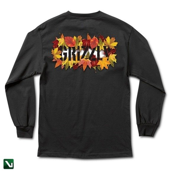 longsleeve grizzly seasonal stamp l/s tee black