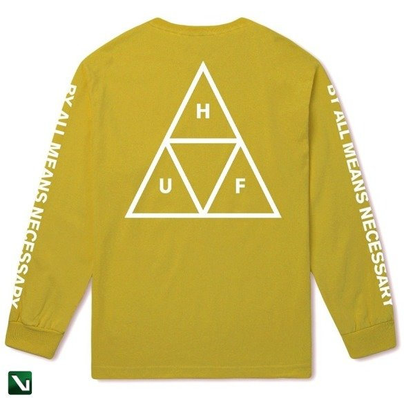 longsleeve huf TRIPLE TRIANGLE LONG SLEEVE TEE essential