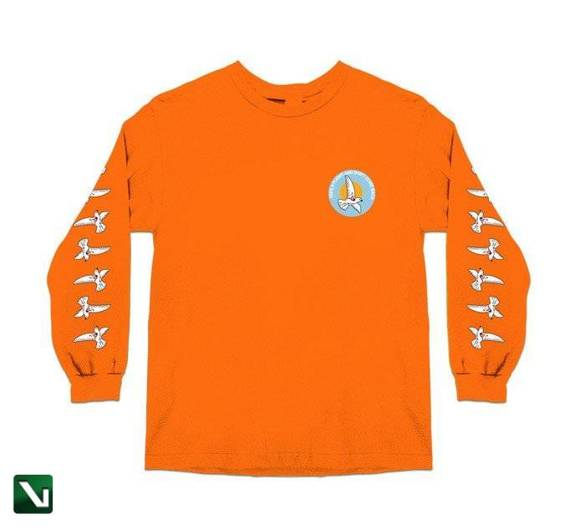 longsleeve skate mental take a flight 2.0 l/s orange