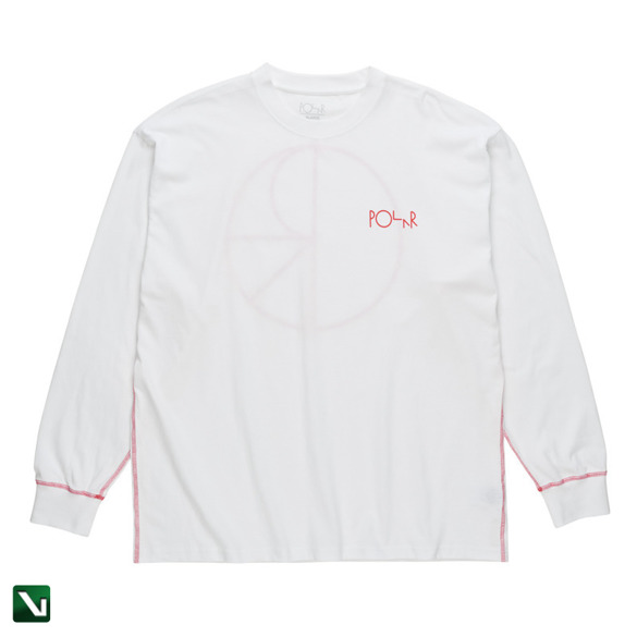 polar contrast longsleeve white/red
