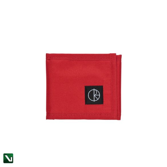 polar cordura wallet red
