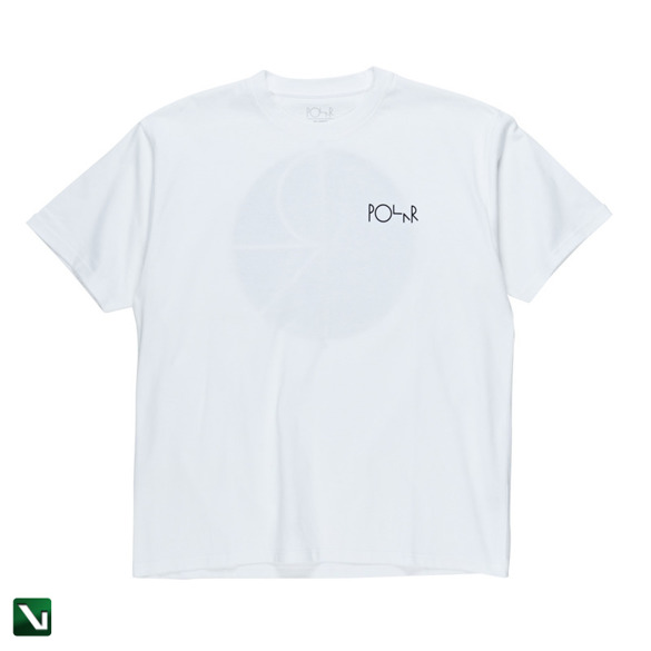t-shirt polar fill logo tee white/black