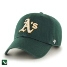 47 BRAND • Czapka Oakland Athletics Clean Up (zielona)