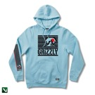 bluza grizzly long daze hoodie pacific blue